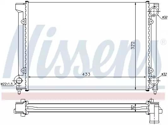 Радиатор, охлаждение двигателя NISSENS 651651