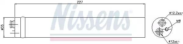 Осушитель, кондиционер NISSENS 95453