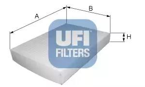 Фильтр, воздух во внутренном пространстве UFI 5315700