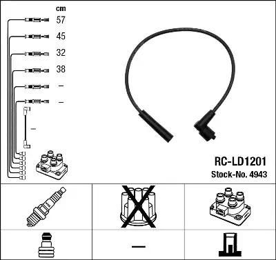 Комплект проводов зажигания NGK 4943