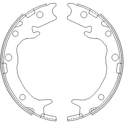 Комплект тормозных колодок, стояночная тормозная система ROADHOUSE 473700