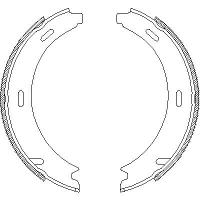 Комплект тормозных колодок, стояночная тормозная система ROADHOUSE 409300