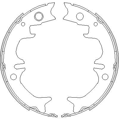 Комплект тормозных колодок, стояночная тормозная система ROADHOUSE 473100