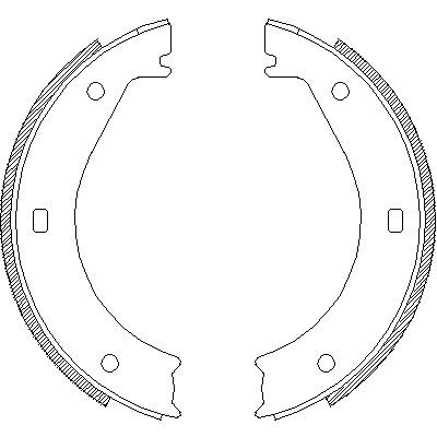 Комплект тормозных колодок, стояночная тормозная система ROADHOUSE 440400