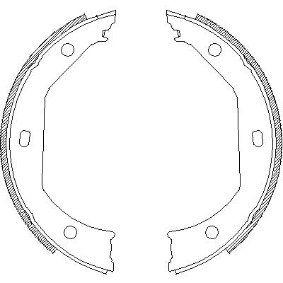 Комплект тормозных колодок, стояночная тормозная система ROADHOUSE 471600