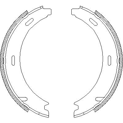 Комплект тормозных колодок, стояночная тормозная система ROADHOUSE 409400