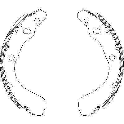 Комплект тормозных колодок REMSA 415100