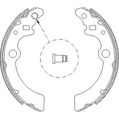 Комплект тормозных колодок REMSA 414300