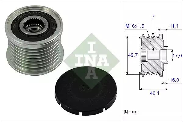 Механизм свободного хода генератора INA 535002110