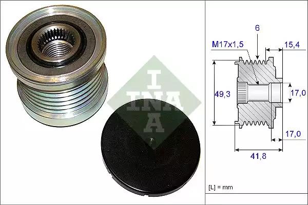 Механизм свободного хода генератора INA 535019310