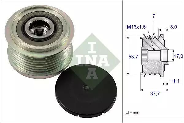 Механизм свободного хода генератора INA 535012810