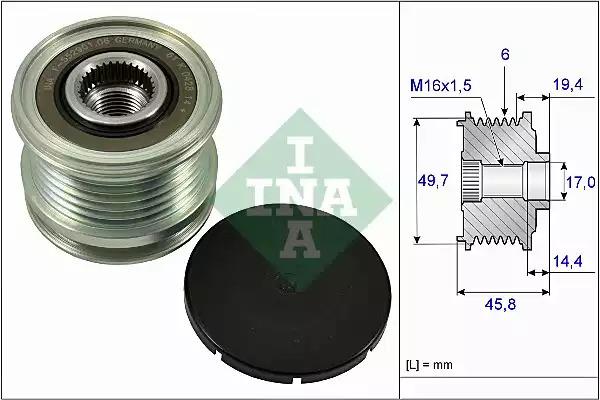 Механизм свободного хода генератора INA 535016810