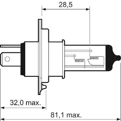 Лампа накаливания, фара дальнего света VALEO 032007