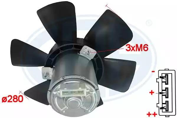 Вентилятор, охлаждение двигателя ERA 352021