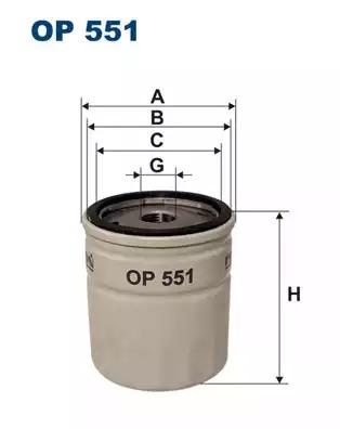 Масляный фильтр FILTRON OP551