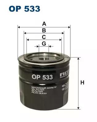 Масляный фильтр FILTRON OP533
