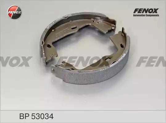 Комплект тормозных колодок FENOX BP53034