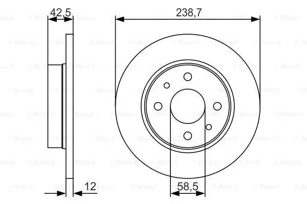 Тормозной диск BOSCH 0986479R61