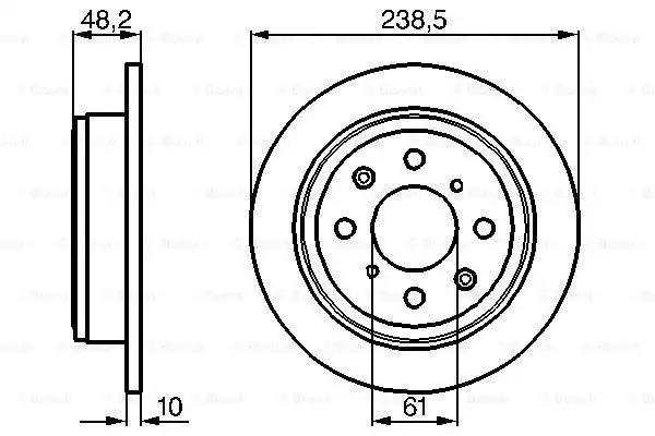 Тормозной диск BOSCH 0986478350