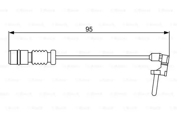 Сигнализатор, износ тормозных колодок BOSCH 1987474901