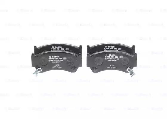 Комплект тормозных колодок, дисковый тормоз BOSCH 0986424369