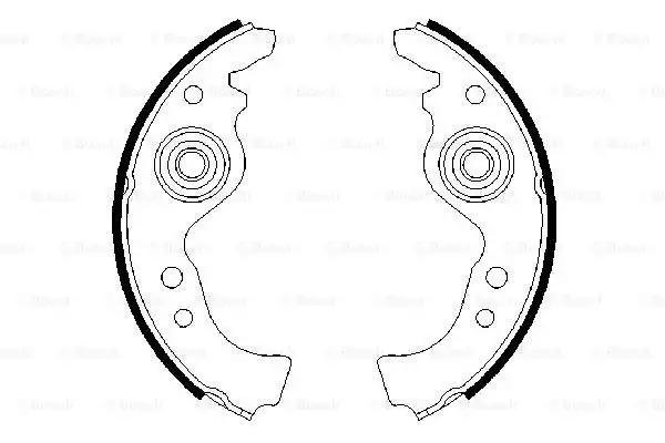 Комплект тормозных колодок BOSCH 0986487030