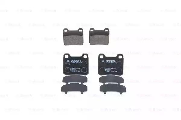 Комплект тормозных колодок, дисковый тормоз BOSCH 0986466871
