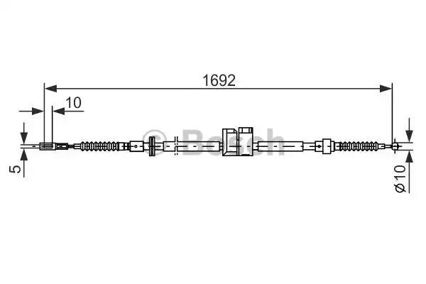 Трос, стояночная тормозная система BOSCH 1987477813