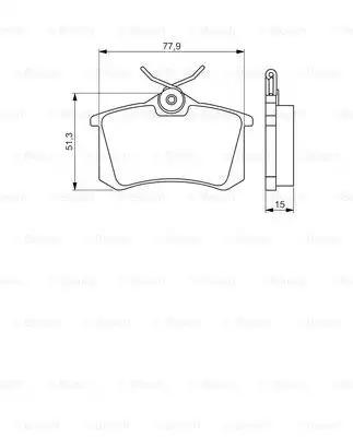 Комплект тормозных колодок, дисковый тормоз BOSCH 0986495226