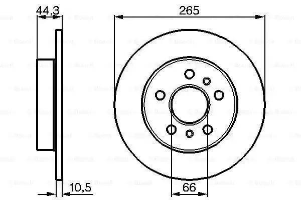 Тормозной диск BOSCH 0986478757