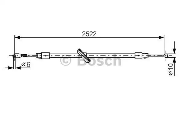 Трос, стояночная тормозная система BOSCH 1987482029