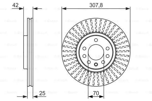 Тормозной диск BOSCH 0986479947