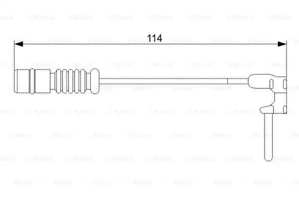 Сигнализатор, износ тормозных колодок BOSCH 1987473011