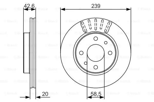 Тормозной диск BOSCH 0986479082