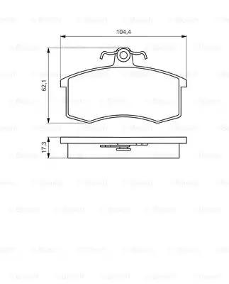Комплект тормозных колодок, дисковый тормоз BOSCH 0986495214