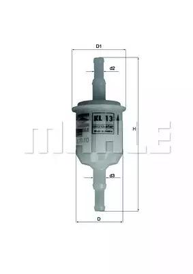 Топливный фильтр KNECHT KL13OF