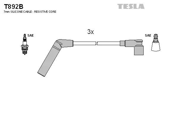 Tesla Провода зажигания TESLA T892B