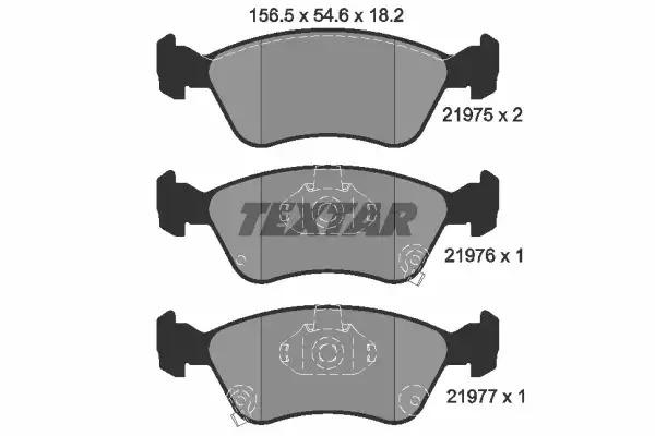 Комплект тормозных колодок, дисковый тормоз TEXTAR 2197502