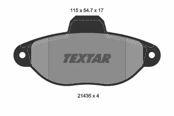 Комплект тормозных колодок, дисковый тормоз TEXTAR 2143602