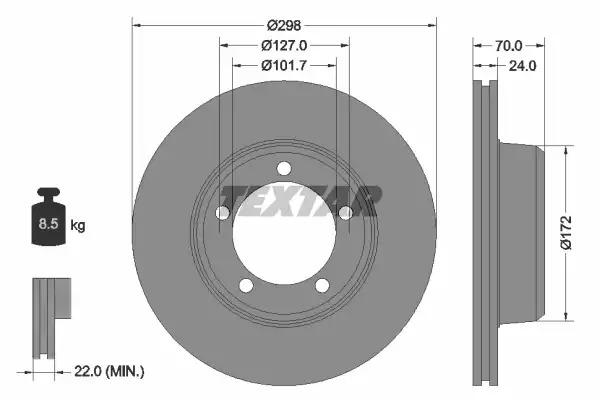 Тормозной диск TEXTAR 92061300