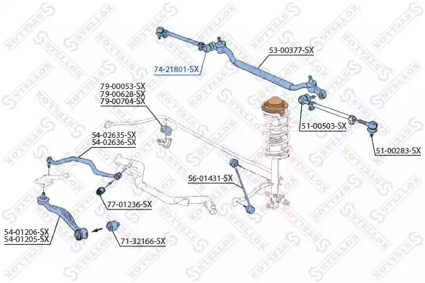 Втулка, вал рулевого колеса STELLOX 7421801SX
