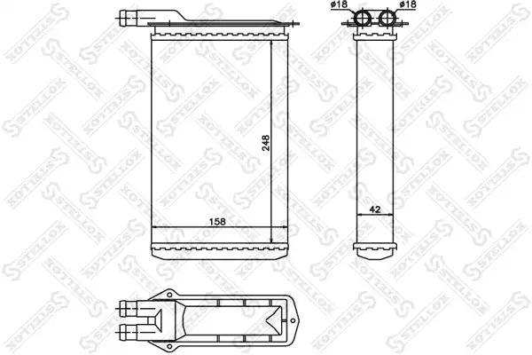 Теплообменник, отопление салона STELLOX 1035126SX