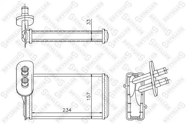 Теплообменник, отопление салона STELLOX 1035019SX