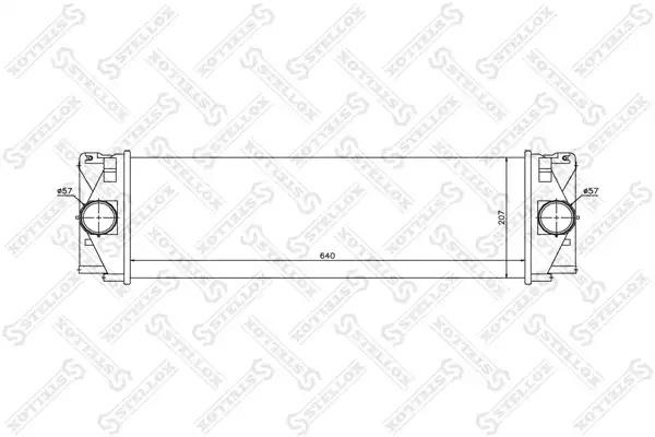 Интеркулер STELLOX 1040206SX