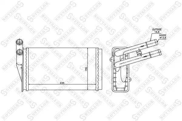 Теплообменник, отопление салона STELLOX 1035021SX