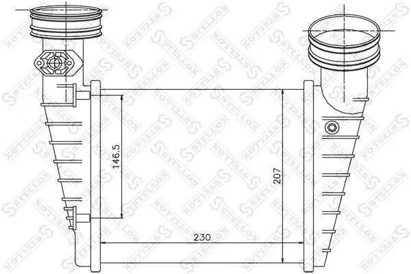 Интеркулер STELLOX 1040157SX