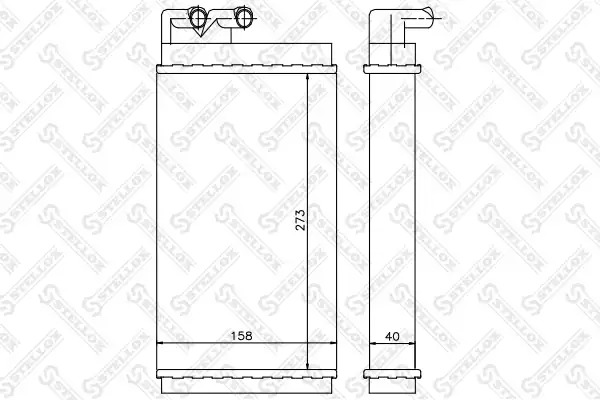 Теплообменник, отопление салона STELLOX 1035001SX