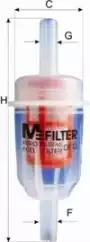 Топливный фильтр MFILTER DF12