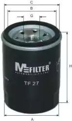 Масляный фильтр MFILTER TF27