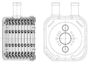 масляный радиатор, двигательное масло LUZAR LOC1805